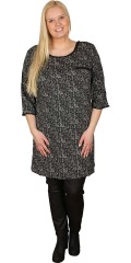 Cassiopeia - Light and fine tunica/dress with 3/4 sleeves. zipper in neck