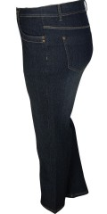 Cassiopeia - Molly jeans with good width in whole the leg, 5 pockets and adjustable rubber band in the waist