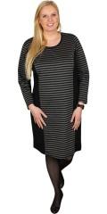 Zhenzi - Vacker långärmad klänning med svart paneler och pynta blixtlås i nacken