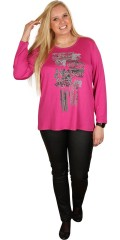 That´s Me (Q´neel) - Long-sleeve t-shirt with round neck and nice stichings also print and pearls on front piece