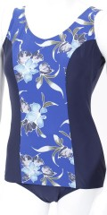 Mirou Swimwear - Smart bathing suit with floral print in nice blue colours