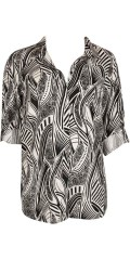 Zizzi - Fashionable shirt with long sleeves, as can draped