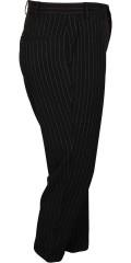 Zizzi - Flotte bukser med nålestrib, regulerbar elastik i taljen, lommer og fast opsmøg