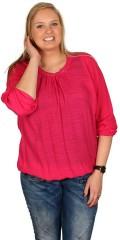 Zhenzi - Bluse med lange ærmer og elastik afslutning forneden