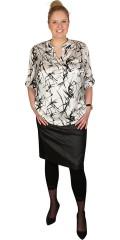 Deluca - Printet skjortebluse med lange ærmer og stolpelukning