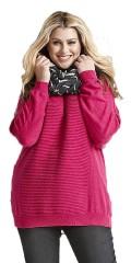 Zhenzi - Strik pullover med flot rib strik i for og bagstykke