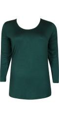 Zhenzi - T-shirt med lange ærmer og rund hals