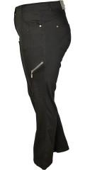 Zhenzi - Step pants med strech, bæltestropper og regulerbar elastik i taljen