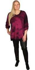 Gozzip - Tunica blouse in batik colours with 3/4 sleeves