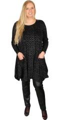 Handberg - Tunika klänning med långa ärmar och tryck