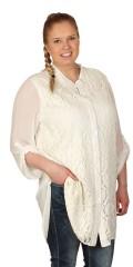 Que (Godske Group) - Que skjortebluse med blonde forstykke
