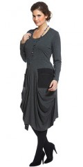 Q´neel - Q neel dress with long sleeves and round neck