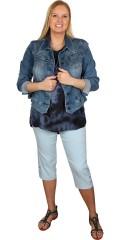 Zhenzi - Jazzy bengaline stumpe bukser med elastik i hele taljen, smart syning i siderne som giver en slankende effekt