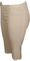 Zhenzi - Twist bengaline capri bukser med elastik i hele taljen og bæltestropper, lille slids i benene, samt 2 baglommer.