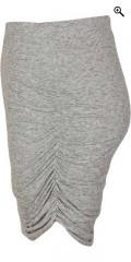 Zizzi - Draperet nederdel med elastik i hele taljen