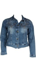 Zizzi - Denim jacket with 2 chest pockets and smart cut also good stretch