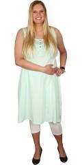 Zhenzi - Sommer kjole med stolpelukning foran og smock i ryggen