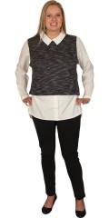Juna Rose (Bestseller) - Skjorte bluse med fast syet forstykke
