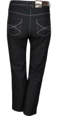Zhenzi - Rock jeans med rigtig god benvidde, 5 lommer og regulerbar elastik i taljen samt bælte stropper
