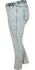 DNY (Marc Lauge) - Denim legging med strech og elastik i hele taljen og baglommer