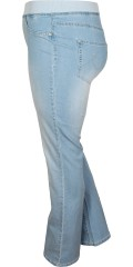 DNY (Marc Lauge) - Hiba leggings bootcut in two step length with elastic ribbing in whole the waist and back pockets