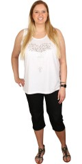 Handberg - Top with smart heart print in light a-shaped