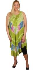 DNY (Marc Lauge) - Sommerkjole med broderi i flotte farver med batik
