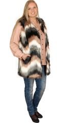 Zizzi - Stylish fake fur vest in nice colours