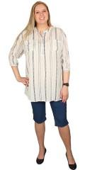 Cassiopeia - Lang skjorte med rundhals og stolpe lukning og 3/4 ærmer