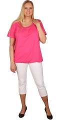 Zhenzi - T-shirt med korte ærmer og elastik afslutning forneden. fin bort ved halsen