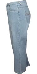 DNY (Marc Lauge) - London Jeans in hell Wash, 2 lgd. 80 und 86 cm. mit Regulierbar Elastik in die Taille von Gr 46 und auf