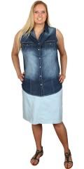 Zhenzi - Bengalin stretch nederdel med isyet gudebuks, 5 lommer, strech, regulerbar elastik og bæltestropper i taljen