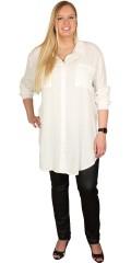 Veto - Lång genomknappad skjorta med bröstfickor
