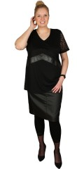 Studio - Nice blouse with inserted lace and imitation fur