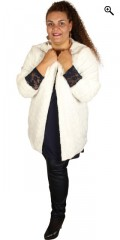 Studio Clothing - Fake fur jakke/cardigan med foer
