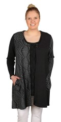 Gozzip - Cardigan with vents and pockets, sewn in a-shaped
