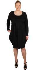 Gozzip - Tunika kjole med lange ærmer og flot rynk i forstykket