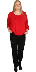 Zhenzi - Sweet blouse with 3/4 sleeves and fine pleat