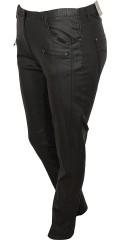 Zhenzi - Coated twist bukser/legging fit med strekk og strikk i taljen samt beltestropper og lommer.