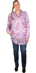 Zhenzi - Langærmet chiffonskjorte