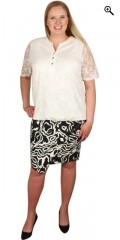 Zhenzi - Bengalin nederdel med elastik i hele taljen og med super smart tryk