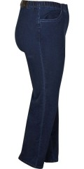 Zhenzi - Jazzy lange denim pants med strech og elastik i hele taljen