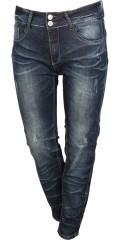 Studio - Jeans fit 55 mit Stretch, Gurtträger und 4 Taschen, sowie smarte Stechungen
