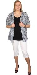 Cassiopeia - Skjorte med krave og lange ærmer