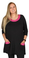 Handberg - Tunica with 3/4 sleeves in light a-shaped