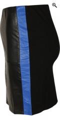 Studio - Kort nederdel i læder look i forstykket