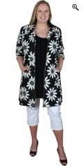 Studio - Really smart cardigan/jacket with big white flowers