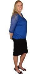 Zhenzi - T-shirt bluse med3/4 blonde ærmer