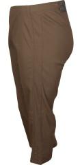 Zhenzi - Jazzy bengaline stump pants med elastik i hele taljen