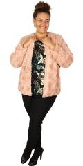 Juna Rose - Soft and stylish fake fur jacket